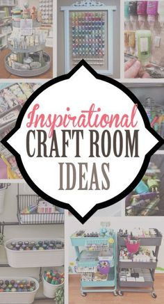 Inspirational Craft Room Ideas for decorating and craft supply organization ideas. Many of these DIY ideas are budget friendly and so pretty!