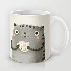 милая кружка котик пьет кофе Киев