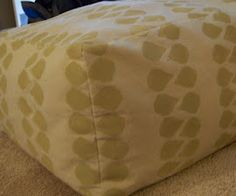DIY Floor Pouf...MADE OUT OF STAMPED CANVAS DROP CLOTHS!