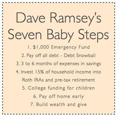 Dave RamseyS Budget Percentages IM Not Sure The Difference
