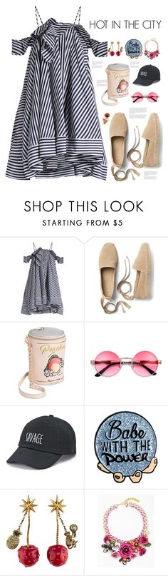 """HotInTheCity"" by avfranz ❤ liked on Polyvore featuring MSGM, Gap, Betsey Johnson, SO and Gucci"