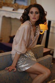 my vivienne tam skirt w blouse