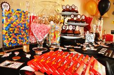 Movie star candy buffet