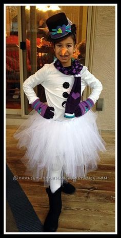 Cute Snowman Costume for Tween Girl... Coolest Halloween Costume Contest
