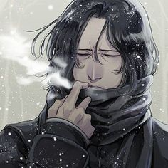 Severus Snape x Reader Story - A Dusting of White, Fanart Harry Potter, Harry Potter Severus Snape, Severus Rogue, Mundo Harry Potter, Harry Potter Artwork, Harry Potter Wallpaper, Harry Potter Facts, Harry Potter Universal, Harry Potter World