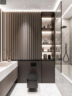 Bathroom Design Luxury, Bathroom Layout, Modern Bathroom Design, Modern House Design, Home Interior Design, Interior Architecture, Interior Livingroom, Interior Plants, Interior Modern