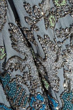 Blue silk-chiffon Slips on 100% silk Dry clean