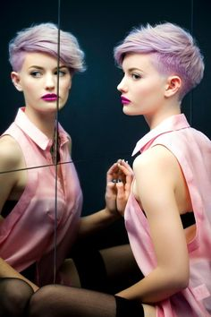 hair Cool female makeup trend color pastel violet short 2013 pastel purple 2013 trend 2013 hairstyles teenage hair