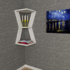 White corner shelf... www.modernfurnituredeals.co.uk