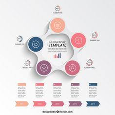 Template infográfico Circular