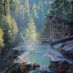 Soak It Up: 5 Amazing Hot Springs In Oregon - - Check out these 5 beautiful Oregon hot springs and then get your adventure on and go see them in person. Oregon Road Trip, Oregon Trail, Oregon Coast, Portland Oregon, Oregon Hiking, Crater Lake Oregon, Oregon Beaches, Oregon Vacation, Oh The Places You'll Go