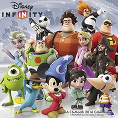 Disney Infinity Wall Calendar (2016) @ niftywarehouse.com #NiftyWarehouse #Disney #DisneyMovies #Animated #Film #DisneyFilms #DisneyCartoons #Kids #Cartoons