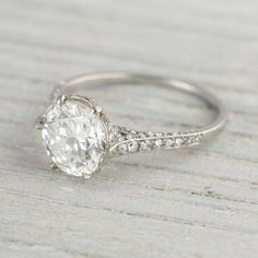 2.04 Carat JE Cawdwell Vintage Diamond Engagement Ring | Erstwhile Jewelry Co. Circa 1920