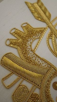 Sさまのゴールドワーク 英国王立刺繍学校・日本分校課題作品