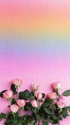 Flower Background Wallpaper, Flower Phone Wallpaper, Rainbow Wallpaper, Pink Wallpaper Iphone, Rose Wallpaper, Cute Wallpaper Backgrounds, Flower Backgrounds, Colorful Wallpaper, Aesthetic Iphone Wallpaper