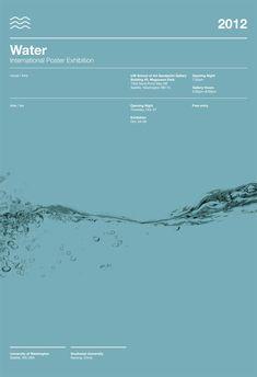 me ~ Water poster exhibition Graphic Design Posters, Graphic Design Typography, Graphic Design Illustration, Graphic Design Inspiration, Japanese Typography, Gfx Design, Layout Design, Type Design, Helmut Schmid