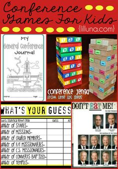 Conference journals and games for kids to do during conference to keep them focused and entertained! { lilluna.com }