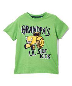 Loving this Green 'Grandpa's Lil Side Kick' Tee - Infant