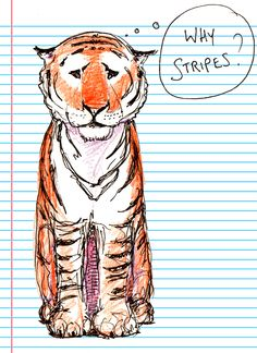 Pensive Tiger. Too much thinking is sometimes a bad thing #switchoff. Check out more prints at www.zoebarnish.com