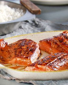 seared soy-sesame arctic char.  Easy and tasty!
