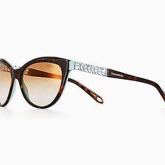 601dcacc65e Tiffany Enchant cat eye sunglasses in tortoise and Tiffany Blue acetate.