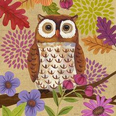 Burlap Woodland Owl by Jennifer Brinley | Ruth Levison Design