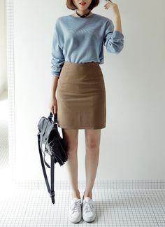 6colorベーシックHラインスカート・全6色
