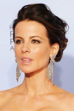 Kate Beckinsale gold make up