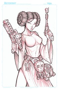 STAR WARS LEIA WIP 02 by RobDuenas on DeviantArt