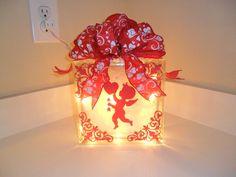Valentine Glass Block