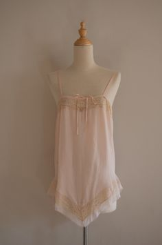 da6dd885be0 1920s lace-edged silk and chiffon teddy   vintage pink lace romper.   52.00