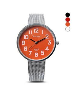 MiniTake.com: Stylish Silver Mesh Band Elegant Simple Case Women Quartz Watch,China Wholesale, Online Shop, Dropship, Free Shipping - $4.99