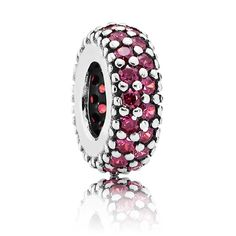 PANDORA's popular spacer is now available in passionate red and is perfect for adding that splash of seasonal color to your holiday themed bracelet.