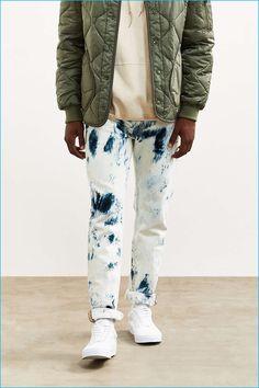 Levi's 511 Bleached Painted Stonewash Slim Jeans