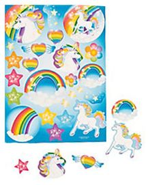 UNICORN-RAINBOW-PARTY-Sticker-sheets-x-3