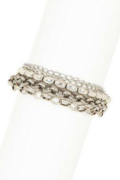 Multi-Chain & Bead Bracelet by mariechavez on @HauteLook $38