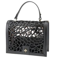 Vionnet black leather cut out bag from spring summer 2014. www.wunderl.com