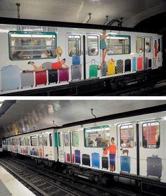 A l'épreuve de Paris, the DELSEY ad campaign. #Subway #ad #paris #Delsey
