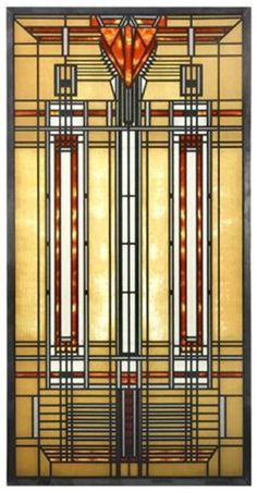 "frank lloyd wright stained glass | FRANK LLOYD WRIGHT ""AUTUMN SUMAC"" DANA THOMAS HOUSE STAINED ART GLASS ..."