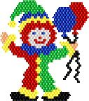 Clown Pin 1 by Jeannie Golden