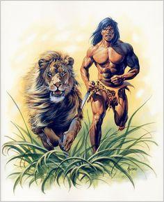 Tarzan Of The Apes, Tarzan And Jane, Pulp Fiction, Science Fiction, Comic Art, Comic Books, African Jungle, Conan The Barbarian, Alternative Art
