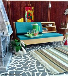 More Mid Century Modern Furniture by Modern Dollhouse Furniture, Tiny Furniture, Barbie Furniture, Miniature Furniture, Victorian Dollhouse, Diy Dollhouse, Dollhouse Miniatures, Dollhouse Interiors, Miniature Dolls