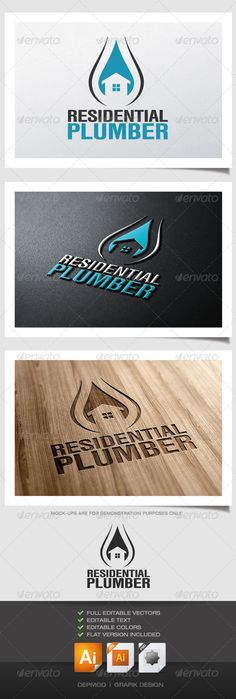Residential Plumber Logo - GraphicRiver Item for Sale