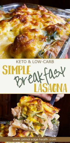 keto breakfast Serve as a warm breakfast or enjoy cold leftovers for lunch - this cheesy low-carb breakfast lasagna is great for the whole family! Breakfast Low Carb, Breakfast Lasagna, Breakfast Casserole, Health Breakfast, Diabetic Breakfast, Lchf, Brunch Recipes, Breakfast Recipes, Breakfast Ideas