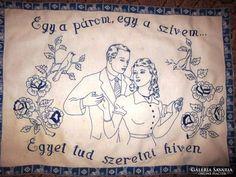 Régi hímzett falvédő - Egy a párom Alsace, Embroidery, Brogue Shoe, Needlepoint, Drawn Thread, Cut Work, Embroidery Stitches