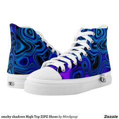 smoky shadows High Top ZIPZ Shoes Printed Shoes