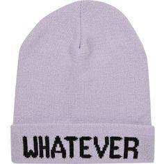 564f6b4bf6e River Island Light purple whatever beanie hat ( 5.03) ❤ liked on Polyvore  featuring accessories