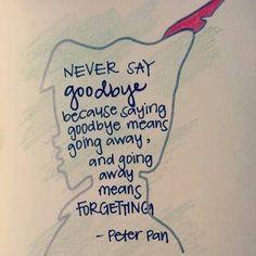 never say goodbye........