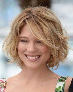 Resultado de imagen para cortes para cabello mediano con fleco para cara redonda