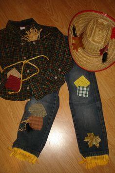 boys size 5T  Custom  Halloween scarecrow by tinatownley15066, $20.00